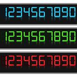 Glowing Digital Numbers