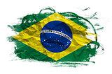 Brasil flag over grunge texture