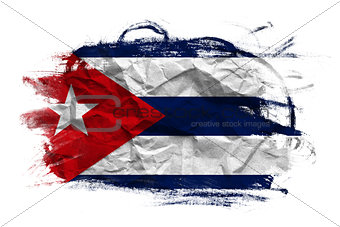 Grunge Cuban flag