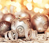 Christmas tree bauble ornament and star decoration