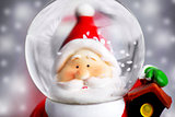 Santa Claus in the snow globe