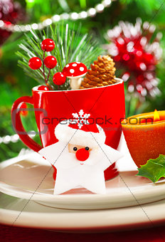 Christmastime table decoration