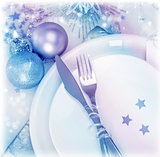Christmastime silverware