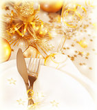Golden table decoration