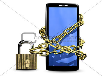 smartphone with lock