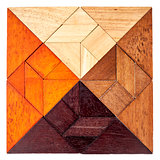 wood tangram square