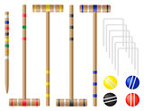 set equipment for croquet vector illustration