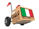 Made in Italy - Cardboard Box on Hand Truck.