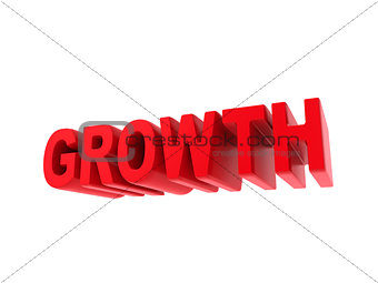 Growth - Red Text Isolated on White.