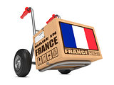 Made in France - Cardboard Box on Hand Truck.