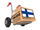Made in Finland - Cardboard Box on Hand Truck.