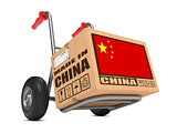 Made in China - Cardboard Box on Hand Truck.