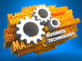 Business Technology. Wordcloud Concept.