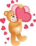 Teddy Bear Holding a Hearts