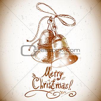 Christmas bell for retro design