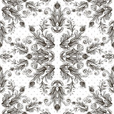 Seamless vintage background, baroque pattern