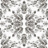 Seamless vintage background, baroque pattern