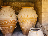 Giant amphoras, Knossos, Greece