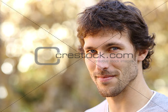 Facial portrait of an attractive adult man