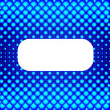 Blue halftone background with white banner. Illustration for your business presentation.