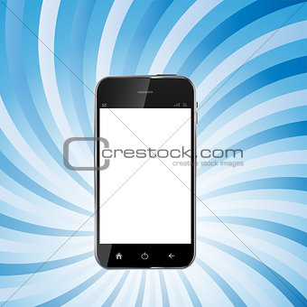 Abstract Design Realistic Mobile Phone with Blank Screen.Vector