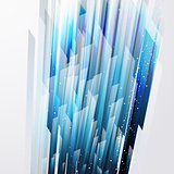 abstract vector background wiht straight blue lines