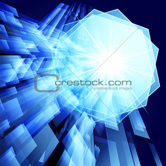 Abstract techno vector background. Eps 10