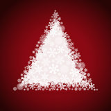Christmas tree, snowflake design background.