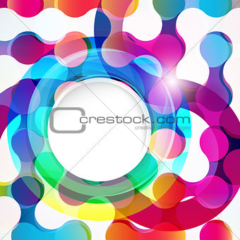 Abstract chain background for design