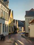 Eckernfoerde in Germany, the old streets