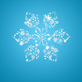 Silhouette snowflakes. Christmas card