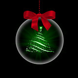 Christmas tree in transparent ball
