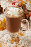 Hot chocolate in snow