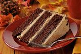 Gourmet chocolate espresso cake