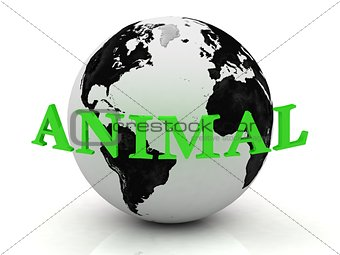 ANIMAL abstraction inscription around earth