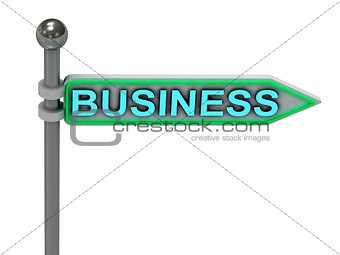 "3d rendering of sign with gold ""BUSINESS"""