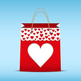 Shopping bag for Valentine's day.