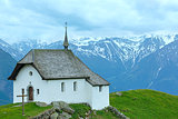 Lovely old Mountain Church in Village of Bettmeralp(Switzerland)