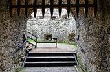 Lubovna Castle entrance (Slovakia).