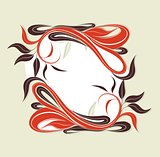 vector holiday frame