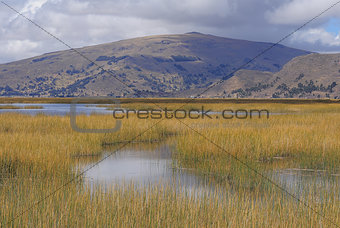 Titicaca lake.