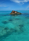 Ship Wreck in a Tropical Sea