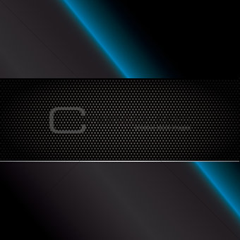 Carbon fiber vector background with neon