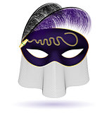 black-purple half-mask