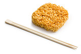 dried chinese noodles with chopsticks