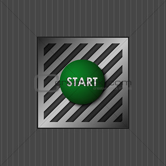 Green button with the word start