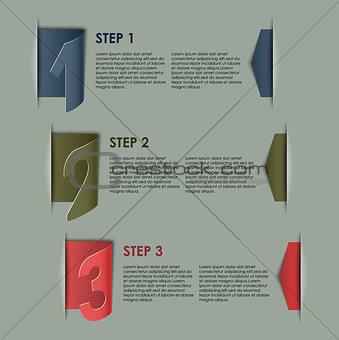 Modern paper progress steps background