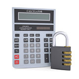 Combination lock and calculator