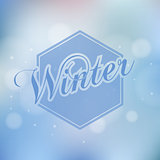 Stylish Winter seasonal card design with bokeh effect.