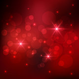 Bokeh and sparkles red background